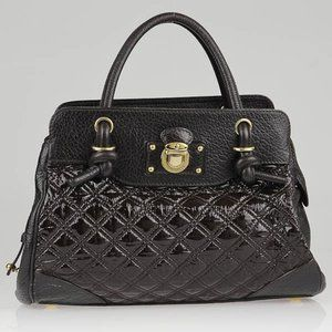 Marc Jacobs Quilted Patent Leather Swagger Satchel